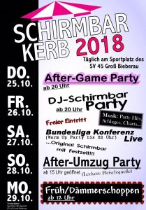 "Kerbstart 2018 ""Aftergame Party"" @ Sportheim Parkplatz"
